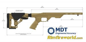 MDT LSS 22 Rifle Chassis Dimensions