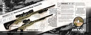 DRAKE A17-A22 Match Competition Long Range Tactical Rifle