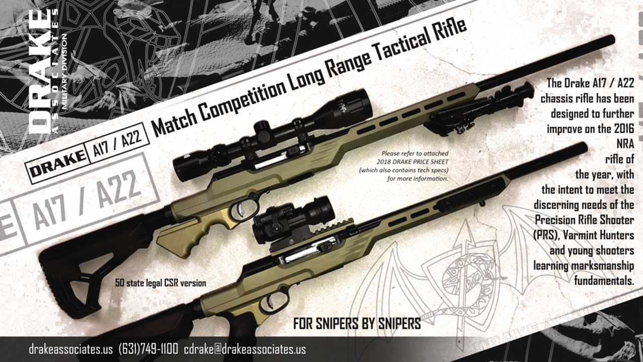 Picture of a DRAKE A17-A22 MATCH COMPETITION LONG RANGE TACTICAL RIFLE